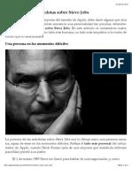 Cuatro Curiosas Anécdotas Sobre Steve Jobs