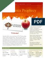 the phoenix prophecy september 2014-2015