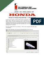 Solidedge F1 Tutorial