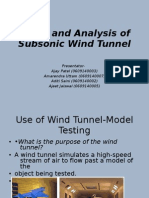 Study and Analysis of Subsonic Wind Tunnel-Ppt1234
