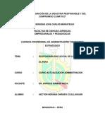 Administración - Ensayo Sobre Rse Perú - Hector Chirapo