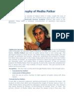 A Short Biography of Medha Patkar