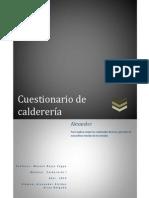 Cuestionario de Caldereria