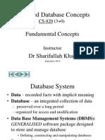Fundamental DB Concepts