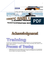 24 24 Summer Training Project on Hdc Bank Audit and Operation Management