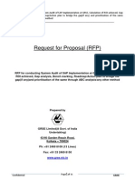 RFP for SAP System Audit and Related Activities