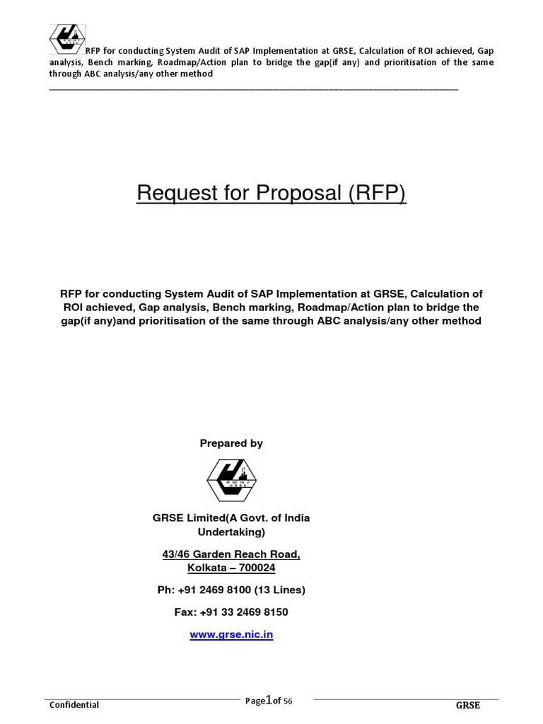 RFP for SAP System Audit and Related Activities | Arbitral Tribunal