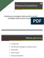 MKT - 201301 - Semana 09 - Estrategia y Postura Competitiva