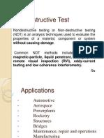A report on Not Destructive Test