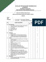 Checklist Posisi Prone