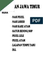 Makanan Jawa Timur 1