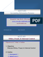 Corporate Ethics & Internal Control