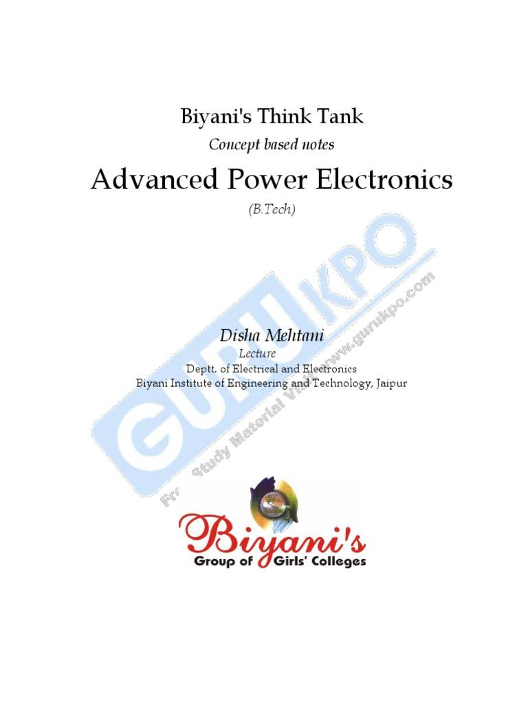 Advanced Power Electronics: Biyani's Think Tank