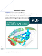 CFD Analysis of an Automotive HVAC System