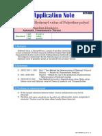 OH determination for Polyether Polyol (KEM)