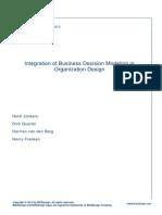 Whitepaper Integration of Business Decision Modeling in Organization Design