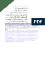 Doa Shalat Istikharah