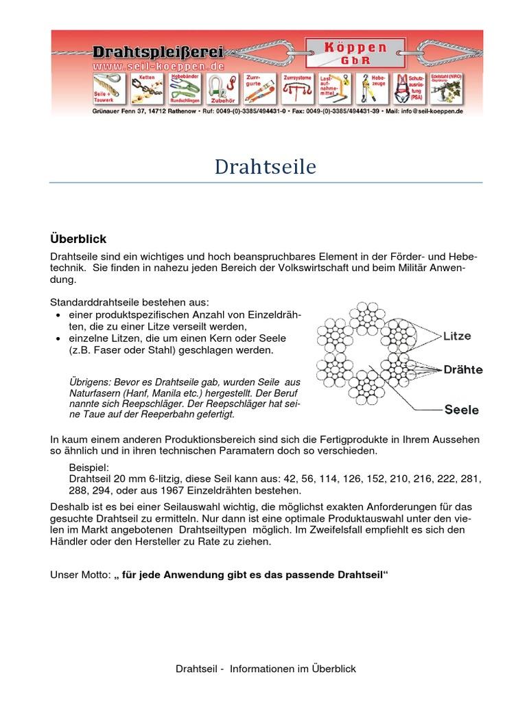 Berühmt Hersteller Von Seil Und Drahtseilen Fotos - Schaltplan Serie ...