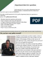 Lévis Police Department Interview Questions