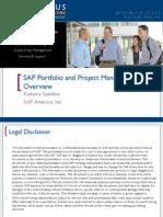 0607 Sap Portfolio and Project Management 6.0 Overview