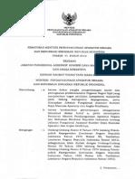 Permenpan Dan Rb Nomor 41 Tahun 2012jabatan Fungsional Assesor Sumber Daya Manusia Aparatur Dan Angka Kreditnya