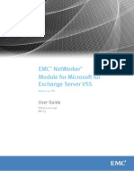NetWorker Module for Microsoft for Exchange VSS 3.0 SP1 User Guide (1)