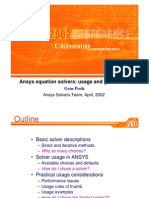 Ansys Solver 2002
