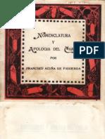 Acuña de Figueroa, Francisco - Nomenclatura y apologia del carajo.pdf