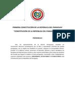 Constitución de La República Del Paraguay 1870