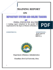 report on Depository system