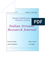 indian stream research journal