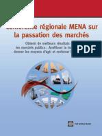 Conference Regionale Passation Marches MENA