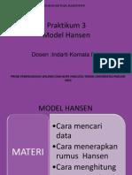 Praktikum Model Hansen