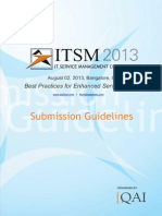 Submission Guidelines ITSM 2013