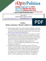 Wake Up to Politics - September 11, 2014