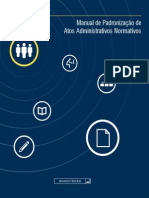 Manual de Padronização de Atos Administrativos Normativos