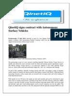 QinetiQ Signs Contract With Autonomous Surface Vehicles