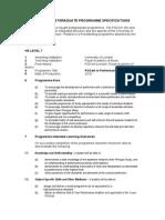 Programme Specification PGCert