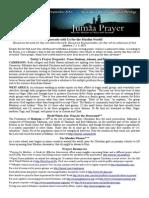 Jumaa Prayer Bulletin 12 September 2014