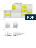 University Lecture Schedule