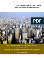 """US Army Report """"Megacities"""""""