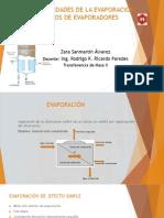 Generalidades de La Evaporación, Tipos de Evaporadores