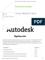 Autodesk 2015 All Product Keys Collection _ AppNee Freeware Picks, Reviews & Ratings