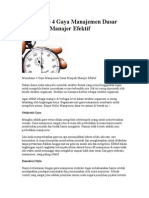 Memahami 4 Gaya Manajemen Dasar Menjadi Manajer