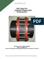 Tn-38 Bolt Torque Flanged Joints (1) (1) Torque HDPE