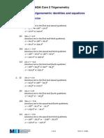 Trigonometric Identities & Equations - Solutions