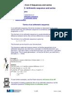 Arithmetic Sequences & Series