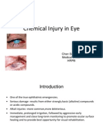 Chemical Injury in Eye