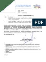 Ord. Nº 9 Citación a Integrantes de Comisiones de La Corporación de Concejales de Chiloé