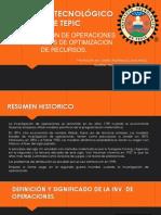 Investigacion de Operaciones y Modelos de Optimizacion de Recursos
